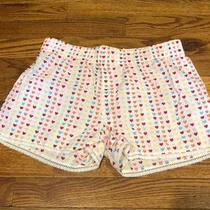 Old Navy multicolored heart boxer shorts. Size Girls Large.
